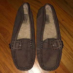 UGG Sheepskin Buckle Leather Flats / Loafer